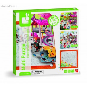 Multi puzzle superposable - le parc de jeux