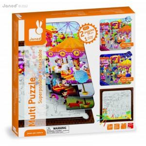 Multi puzzle superposable - la fete foraine