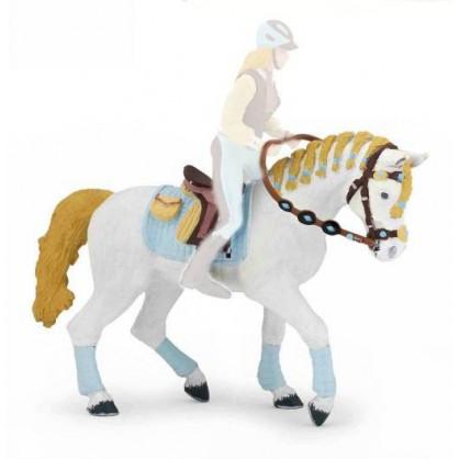51545 Cheval de la Cavaliere Adulte Fashion Bleue