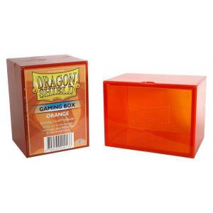 Boite de rangement de cartes - gaming box orange