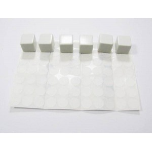 Sachet de 6 des a 6 faces vierges - 16 mm