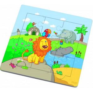 Les amis du lion puzzle cadre 9p