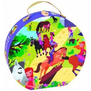 Valise puzzle equitation 100 pcs
