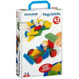 Blocs de construction pegy bricks - 43 pieces
