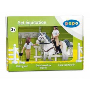 50080 coffret equitation 1 avec 3 figurines