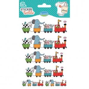 Sticker Textile Train des Animaux
