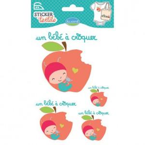Sticker Textile Un Bébé à Croquer
