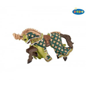 39923 Cheval du Maitre des Armes Cimier Dragon