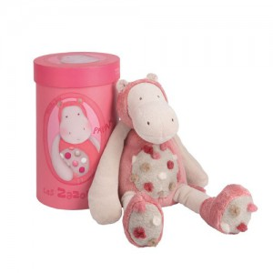 Peluche Papam l'hippopotame 30 cm - Collection Les Zazous