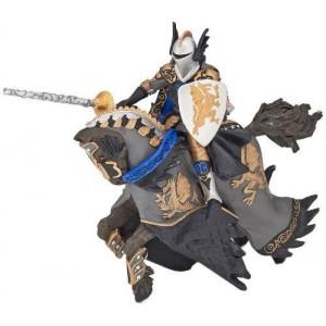 Prince noir au dragon et son cheval