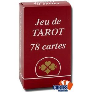 Jeu de tarot rouge - 78 cartes