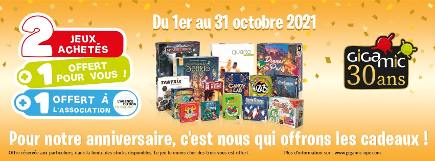 Gigamic 30 ans